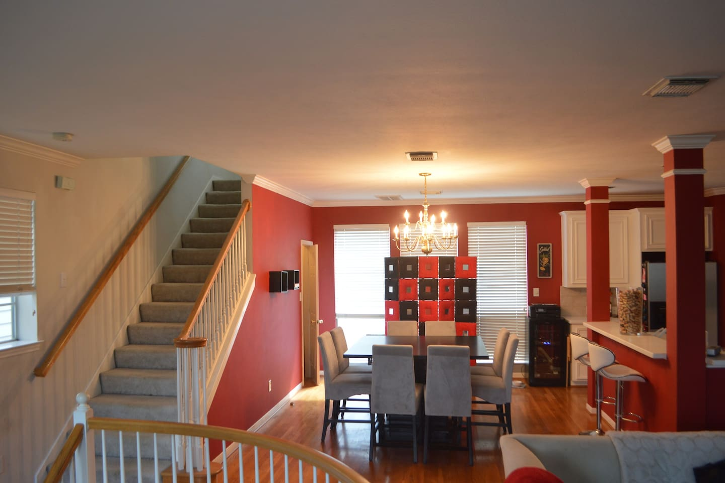 Spacious main floor (2nd floor) with plenty of room for air mattresses and furniture!