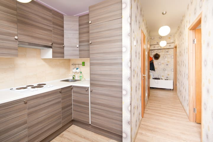 Tidy room in 1 min from subway - Moscou - Apartamento