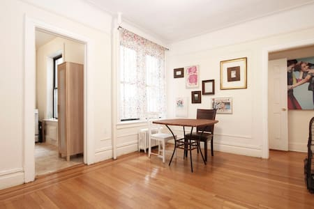 Stylish room decorated by New York Shoe designer at perfect location in safe area. Just 2 short blocks to subway, 4 stops to Manhattan. Airport is very close! 24 hours organic grocery store, bank, bars and restaurants are in front of the apartment.