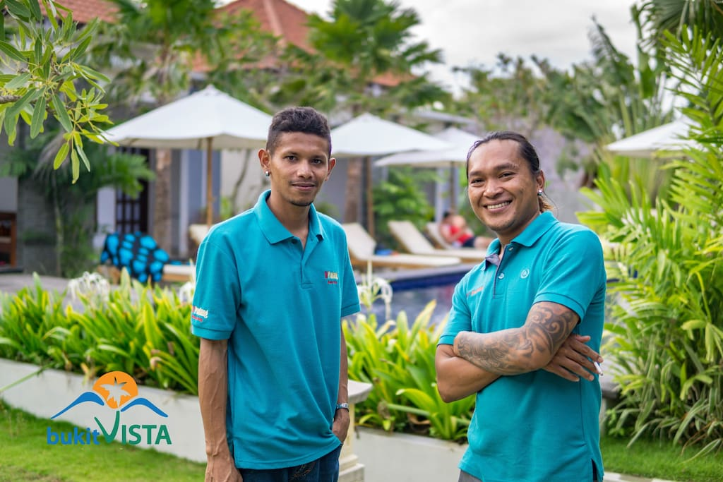 Meet Fano and Sujak. Our onsite team that will greet you with a contagious smile and are ready to help your needs and inquiries