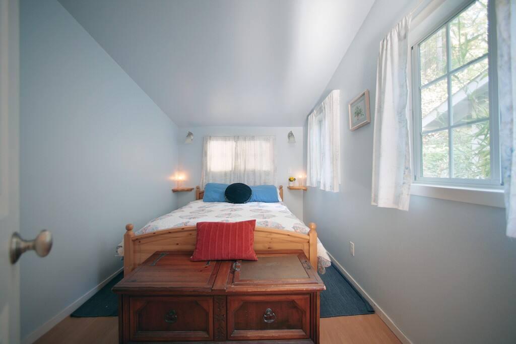 Warm bedroom with premium mattress!