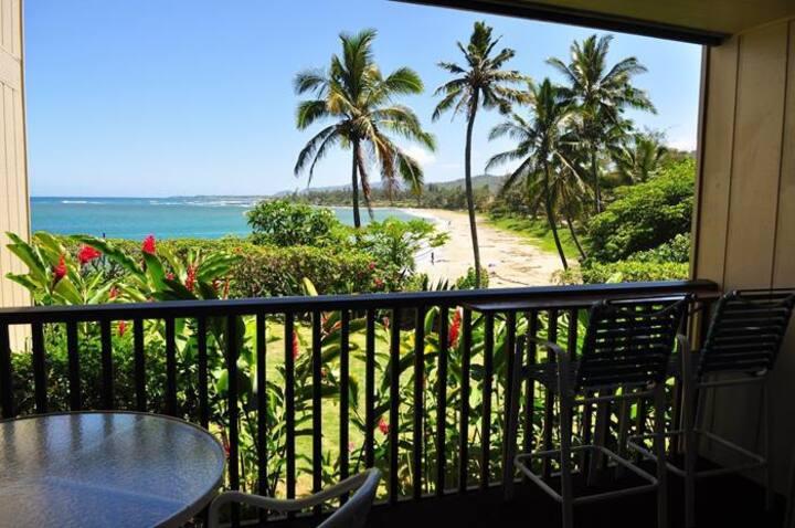 Wailua Bay View #105- 1BR Oceanfront Condo!