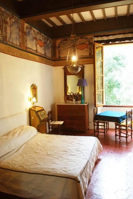 Frescoed bedroom