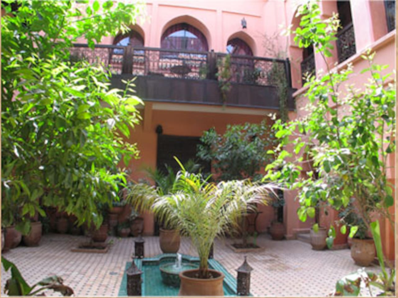 Riad Marrakech / Chambre Turquoise