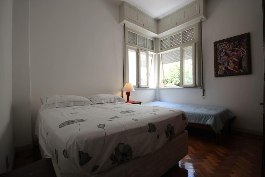 Conforto e paz quarto copacabana