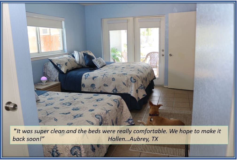 """It was super clean and the beds were really comfortable. We hope to make it back soon!""  ~Hollen...Aubrey, TX"
