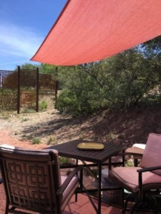 New outdoor shaded  patio