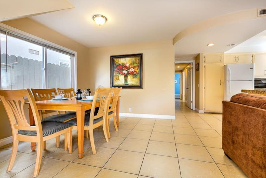 Dining Area for 6 in great room.
