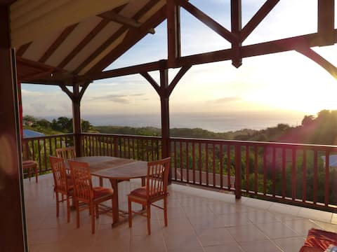 Villa T3 vue mer caraibe
