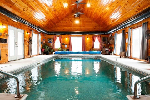 Indoor Heated Pool in the Adirondacks
