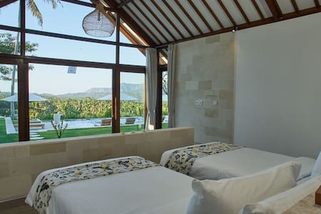 Palmterrace one bed room cottage twin beds room
