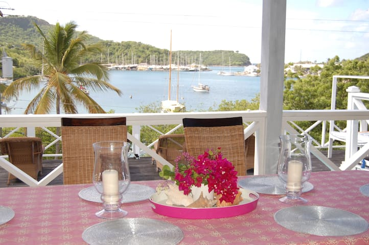 Waterfront villa overlooking Nelsons Dockyard - English Harbour - House