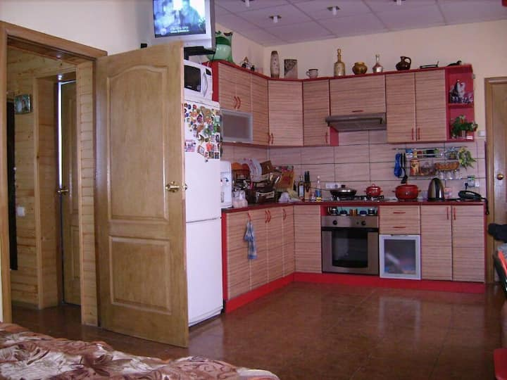 I rent a house in Mirgorod, a city