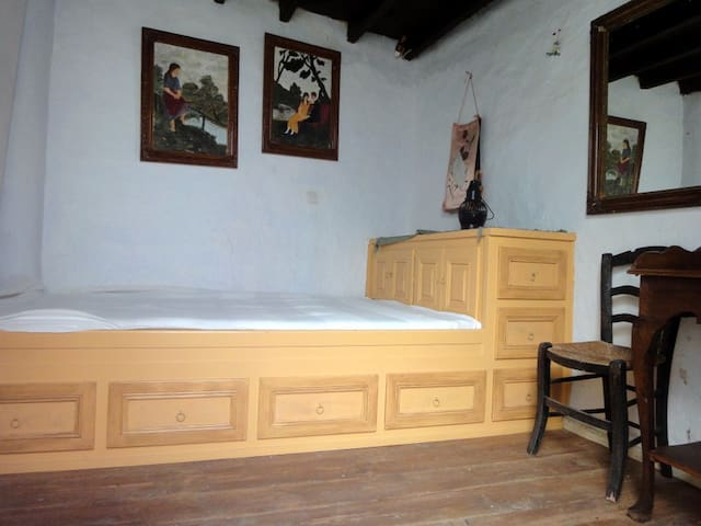 The small bedroom, The Eagle room at the courtyard (single+ size bed)