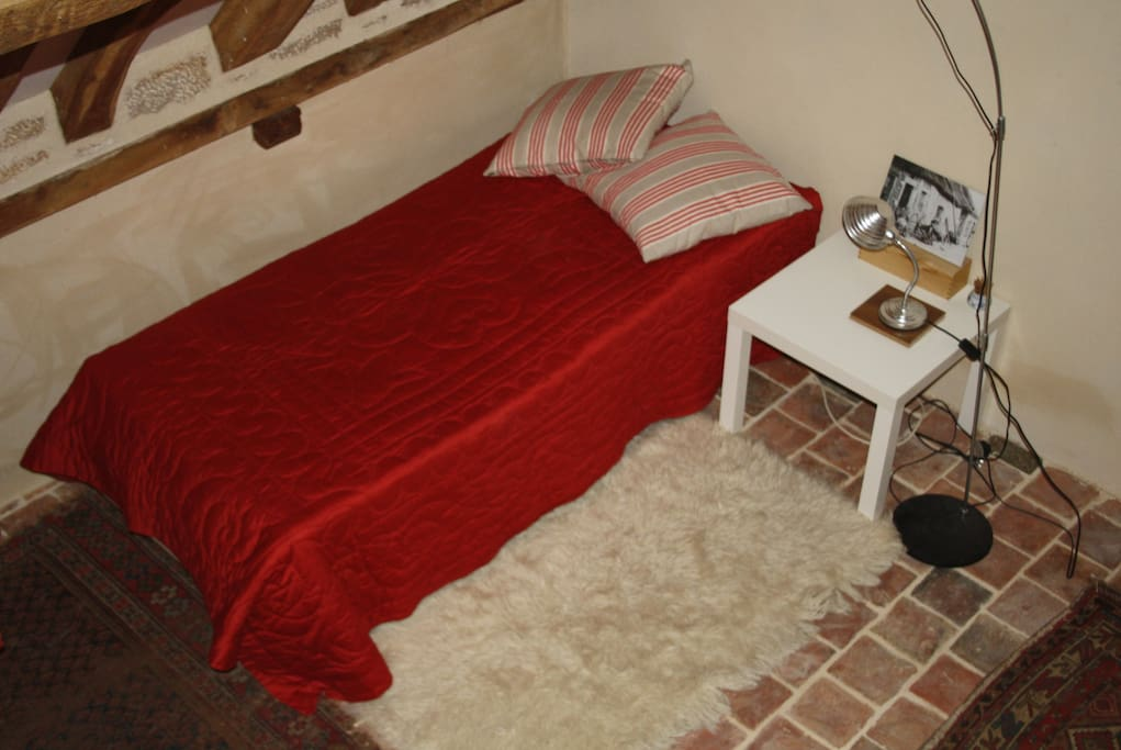 Ladoix - this is your bed in a wide, tall shared room with one other (Vougeot), and two up a ladder on a mezzanine