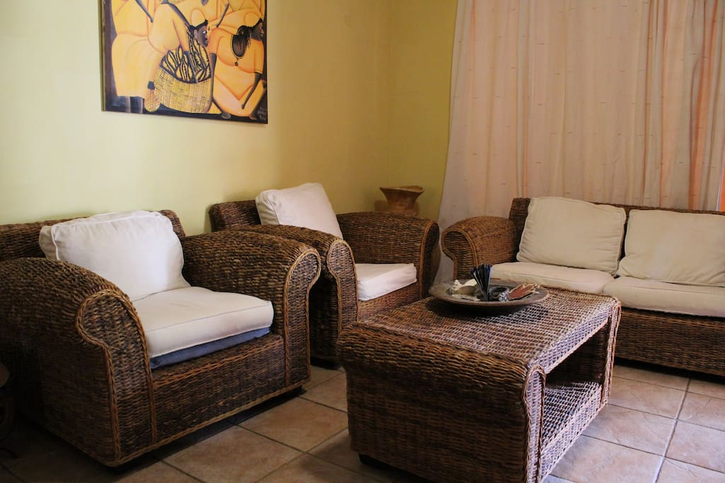 Living room with Rattan furniture