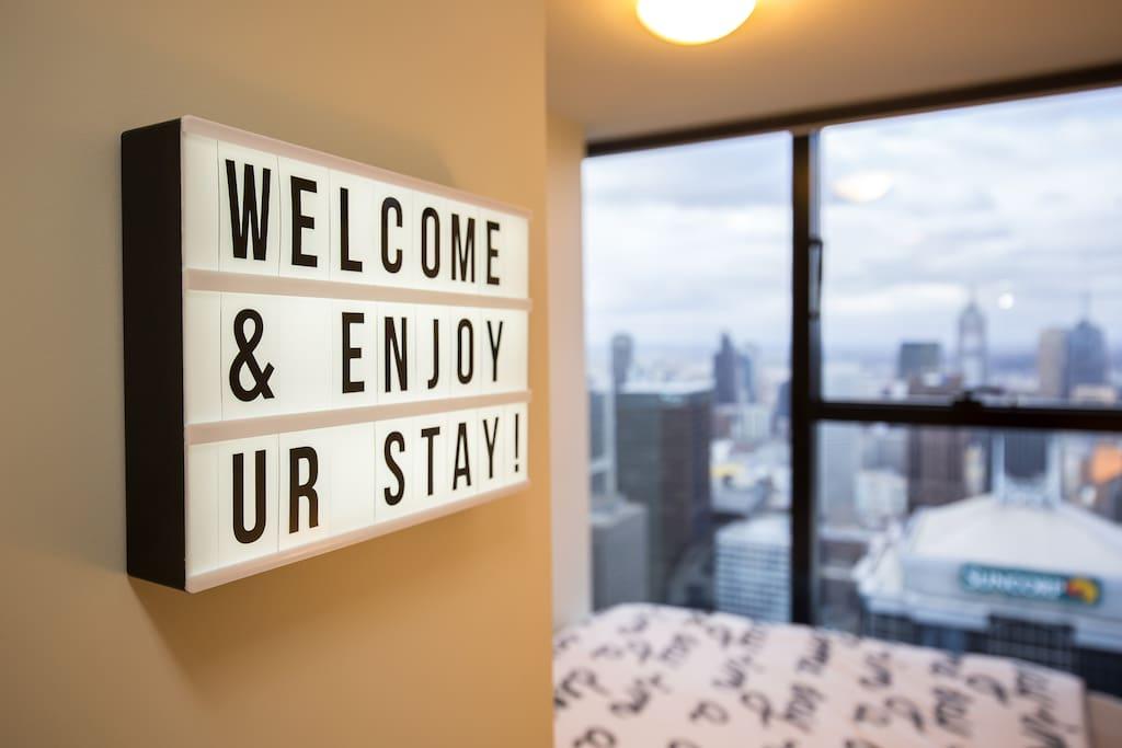 WELCOME & ENJOY UR STAY!