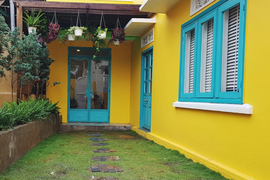 Entrance of The Yellow Vibe house