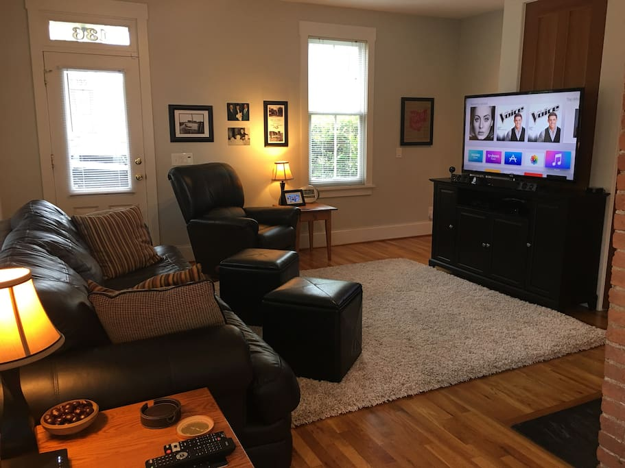 Apple TV and DVD Player available in Living Room