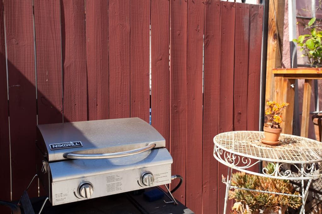 Lots of our guests enjoy grilling outdoors...