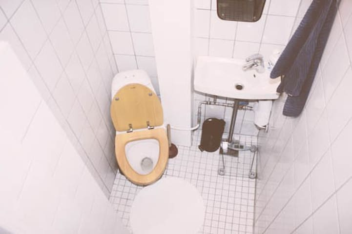 Seperated toilet, which is rarely seen in Copenhagen