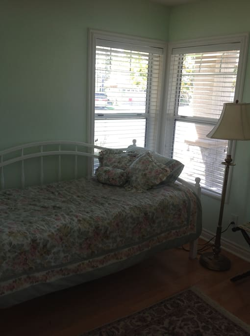 Downstairs Single has a twin bed and plenty of natural light
