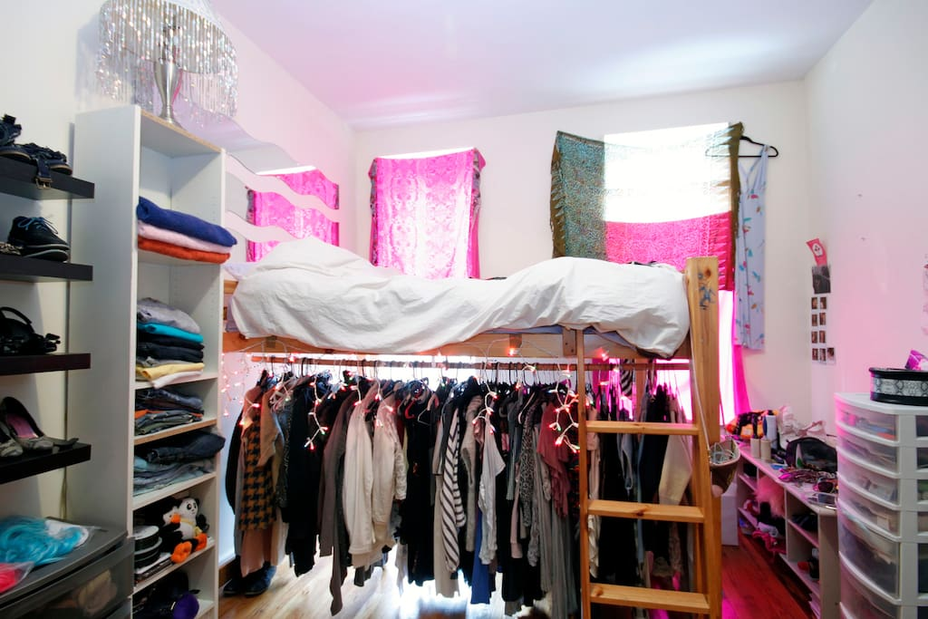 Your room with a comfy loft bed!