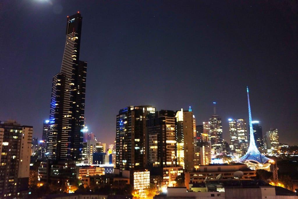 Fabulous night views from balcony