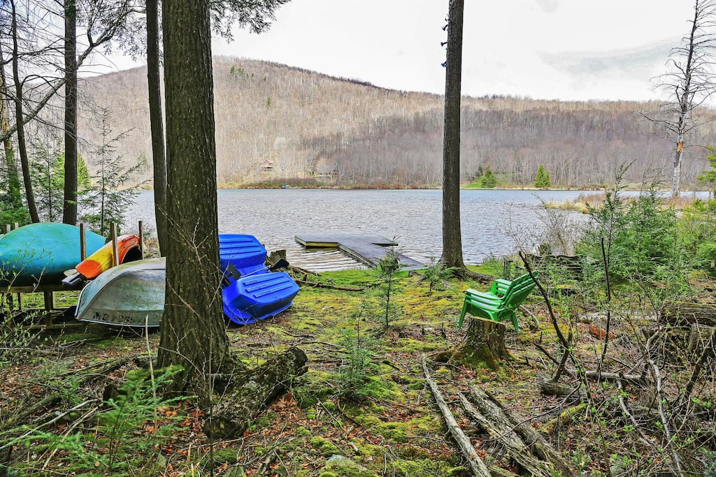 Enjoy use of the property's private open dock on the lake.