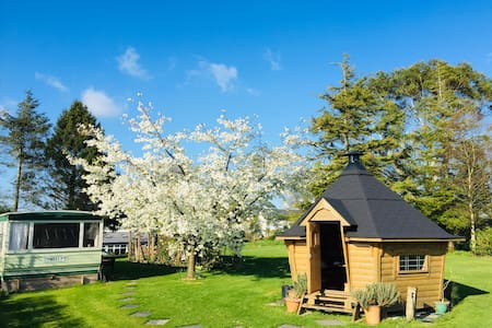 Relaxing, quiet Devon Country Cabin & BBQ Hut