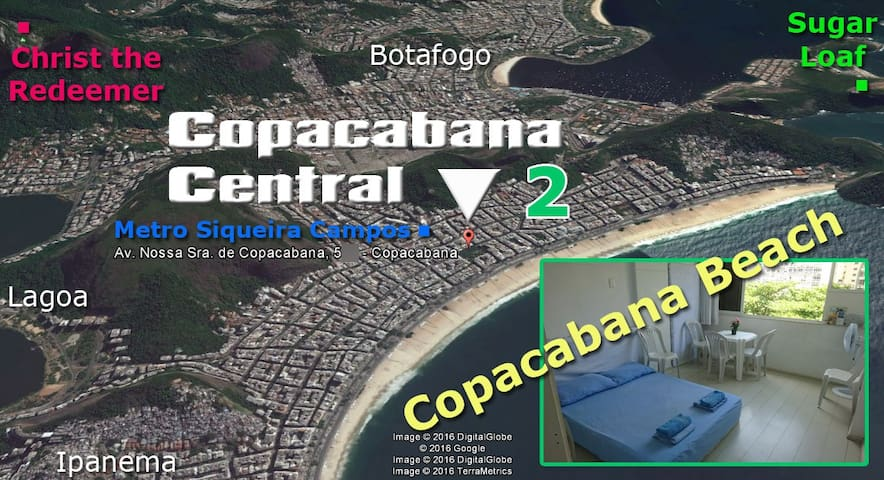 Copacabana Central 2 (room at 200m from the beach)
