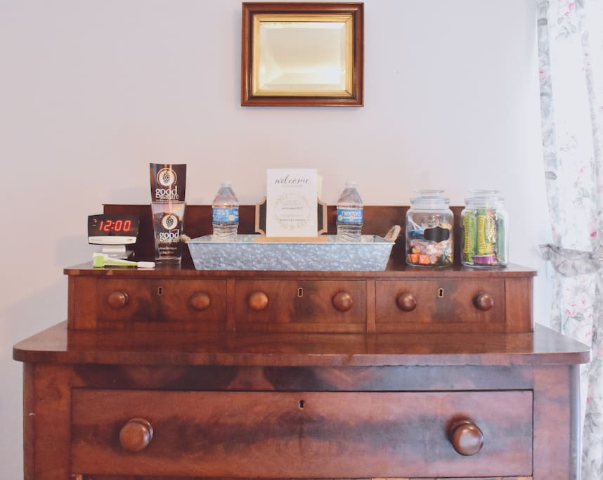 Dresser with lots of goodies
