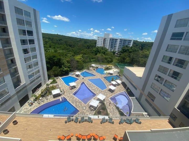 Park Veredas 621com fogão/geladeira frente piscina