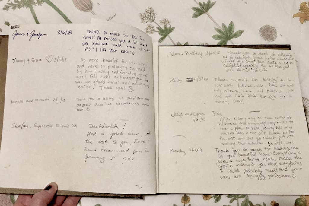 My guest book is always a pick-me-up and truly displays why I love this community!