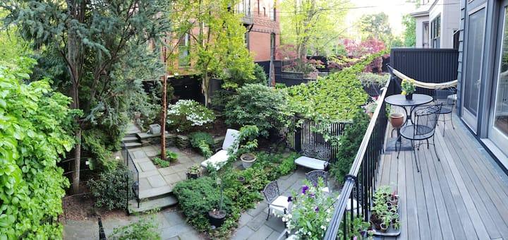 Garden-oasis 1BR apt, near Parks/Sights/Hospitals