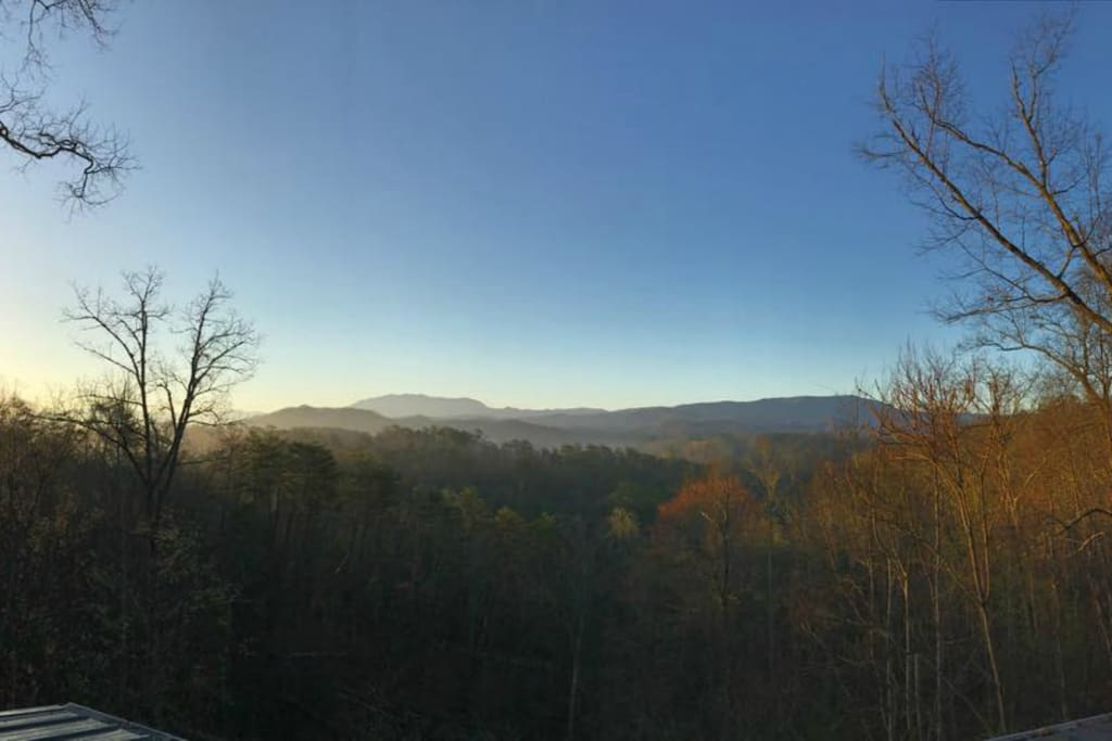 This is the view from the porches in the morning.