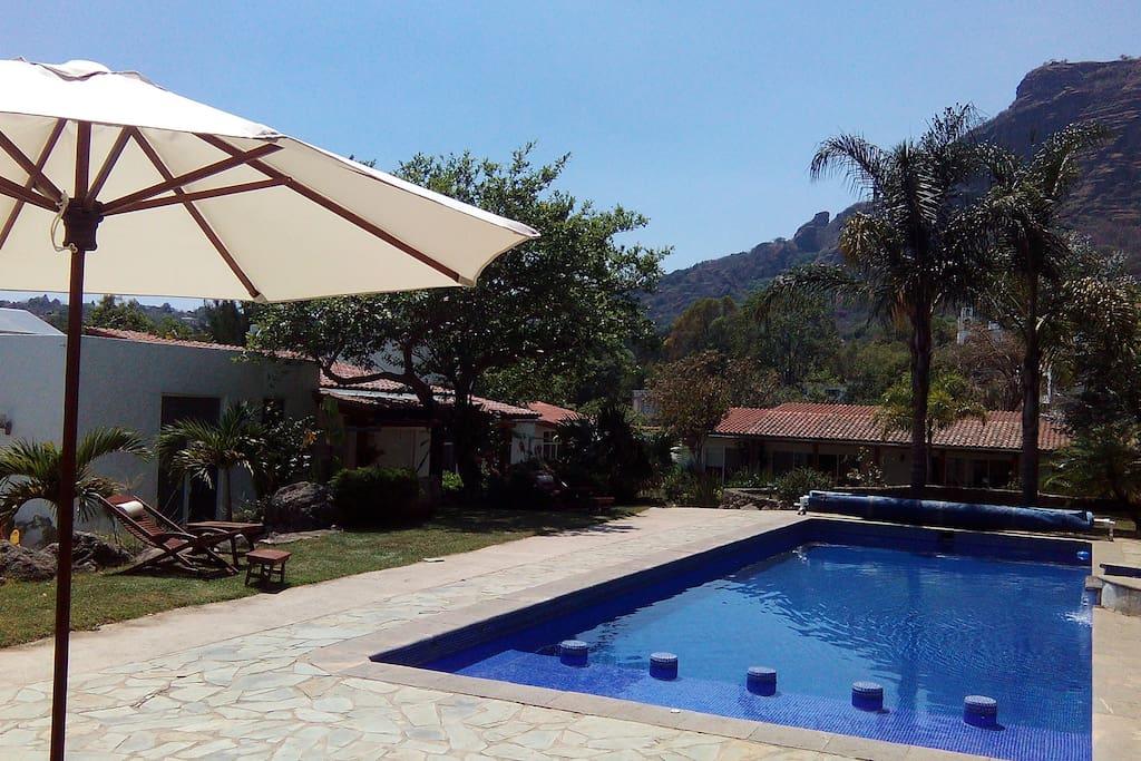 Alberca, suite, bungalows