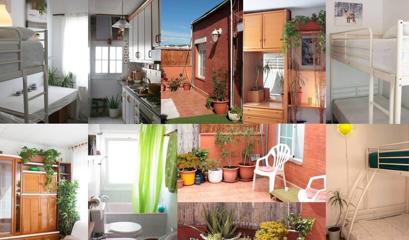 Ático soleado con terraza - Barcelona - Apartment