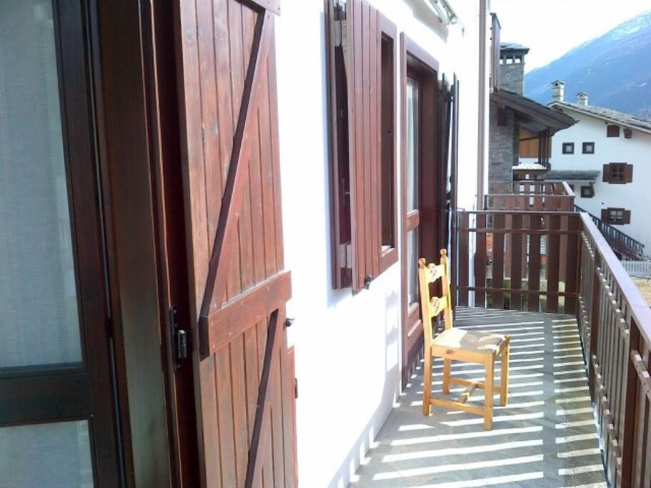 with fantastic balcony