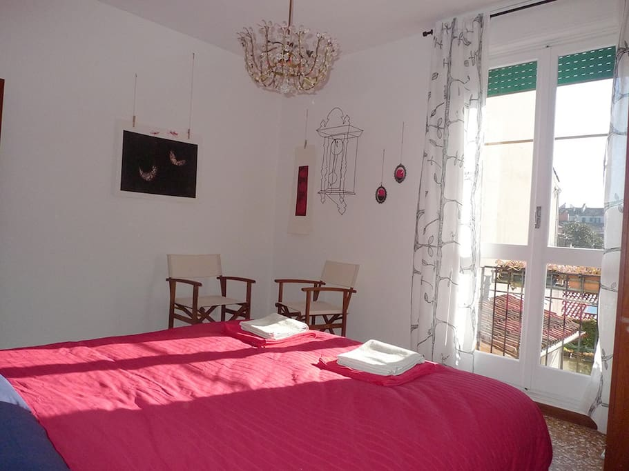 Double room and art works