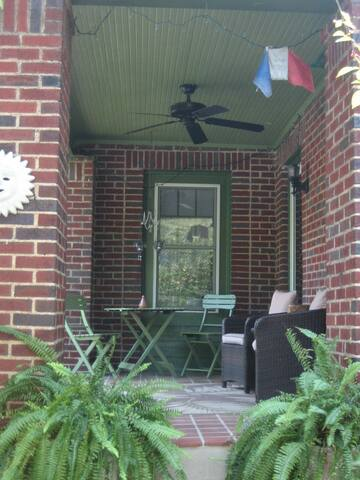 Front Porch with ceiling fan & seating areas