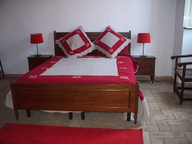 The red bedroom