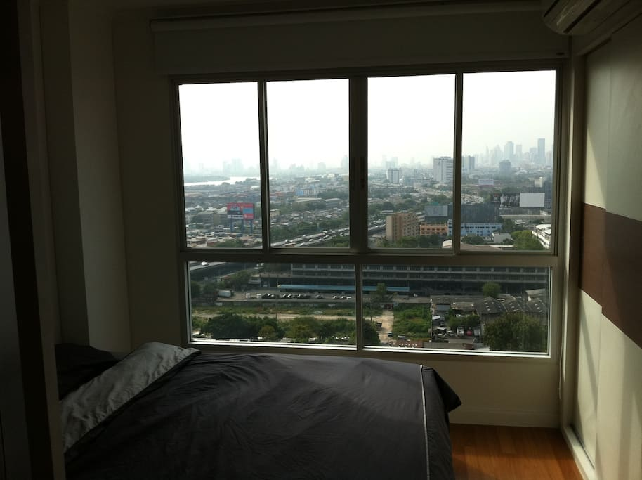 Room with a nice Bangkok Sky View