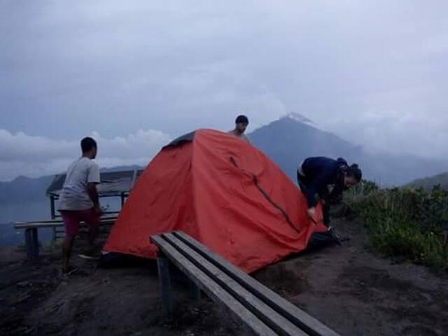 Kintamani batur volcano camp