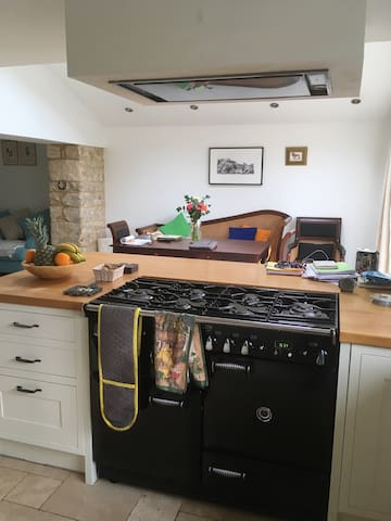 Large country style kitchen