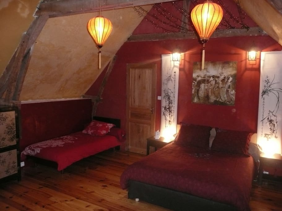 chambre chinoise, chinese bedroom