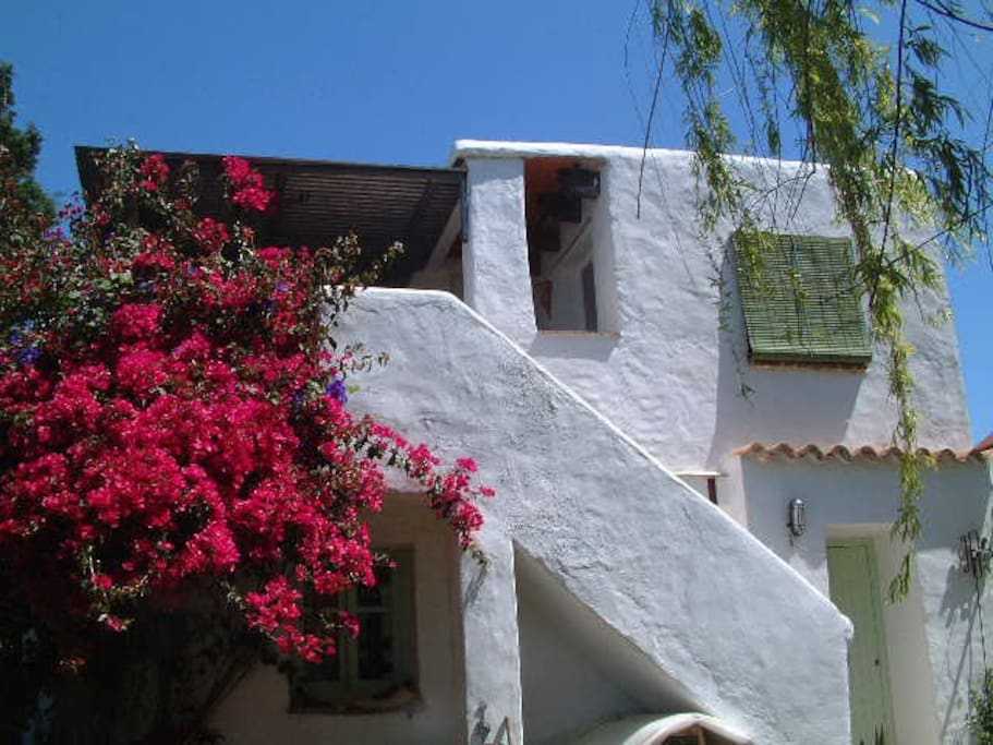 La Buganvilla - the apartment from the garden, the lower level is our other apartment for 2 El Turco