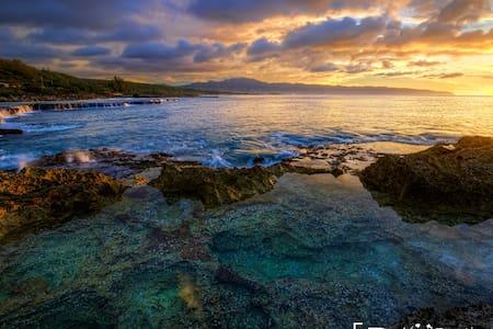Happy Haleiwa  Home- across from beach! - ฮาไลวา - บ้านพักตากอากาศ