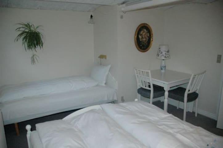 Family room on lovely Mejlbygaard - Tim - Bed & Breakfast