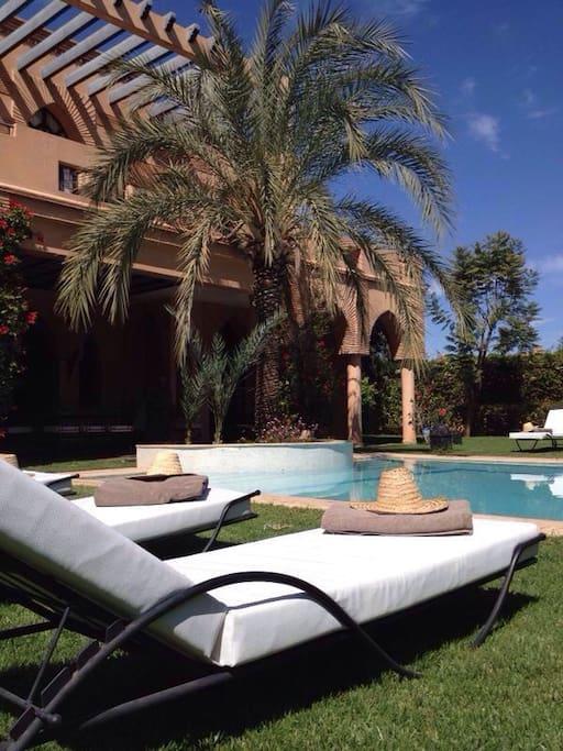 Location villa vacances Marrakech Piscine privée